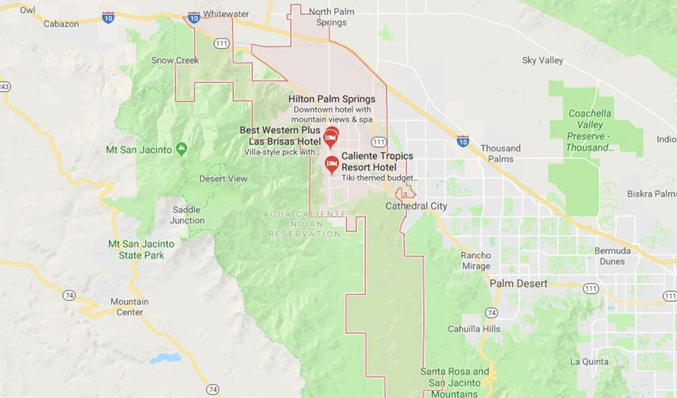 palm springs real estate google map | 100% Commission Real Estate ...